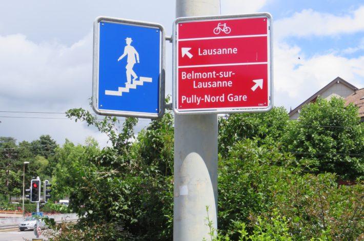 Les itinéraires cyclables signalés dans toute l'agglomération lausannoise