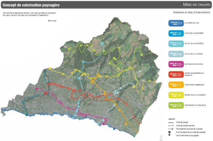 Concept de valorisation paysagère - Source : Etude stratégique d'évolution du paysage de l'Est lausannois